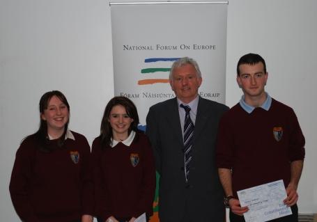 Cassie Comerford, Aideen McNamara, Sean Ó Neachtain MEP, Caimin Condron.